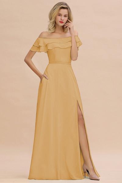 BM0775 Off-the-Shoulder Front Slit Mint Green Long Bridesmaid Dress_13