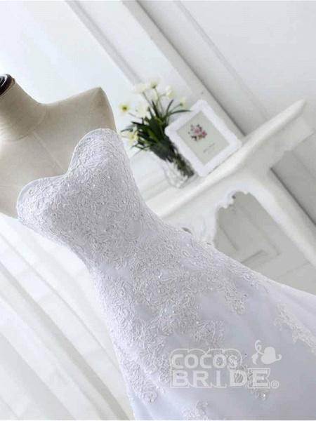 Elegant Sweetheart Lace-Up Mermaid A-Line Wedding Dresses_5
