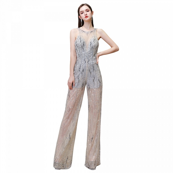 Jewel Sleeveless Tulle Evening Jumpsuit with Sequins_13