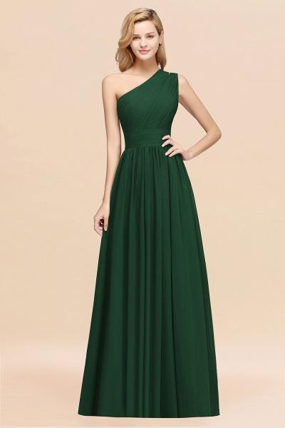 Elegant A-Line Burgundy Chiffon One-Shoulder Sleeveless Ruffles Floor-Length Bridesmaid Dresses_31