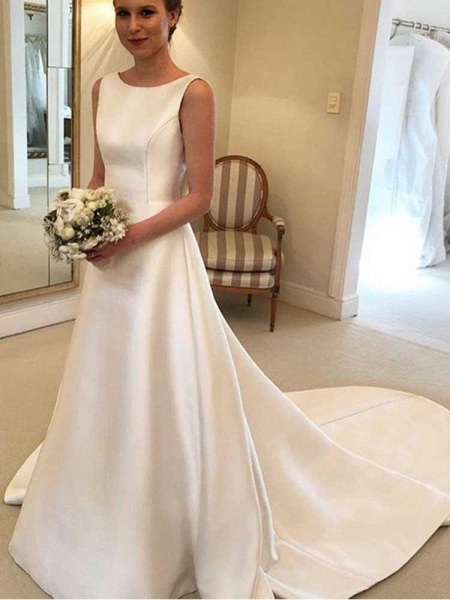 Gorgeous Backless Ruffles Wedding Dresses_1