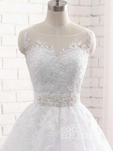 Elegant Lace-Up Ball Gown Wedding Dresses_6