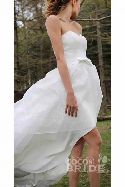 High Low Sweetheart Beach Boho Wedding Dress_3