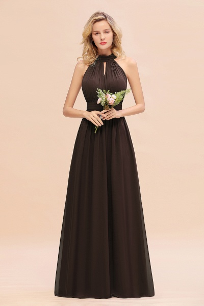 BM0758 Glamorous High-Neck Halter Bridesmaid Affordable Dresses with Ruffle_11