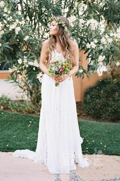Sexy Backless Beach Spaghetti Summer Wedding Dress_5