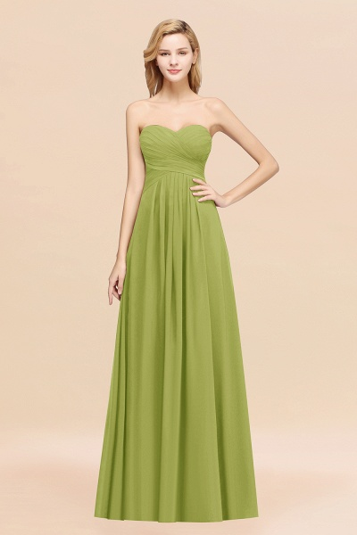 A-line Chiffon Sweetheart Strapless Ruffles Floor-length Bridesmaid Dress_34