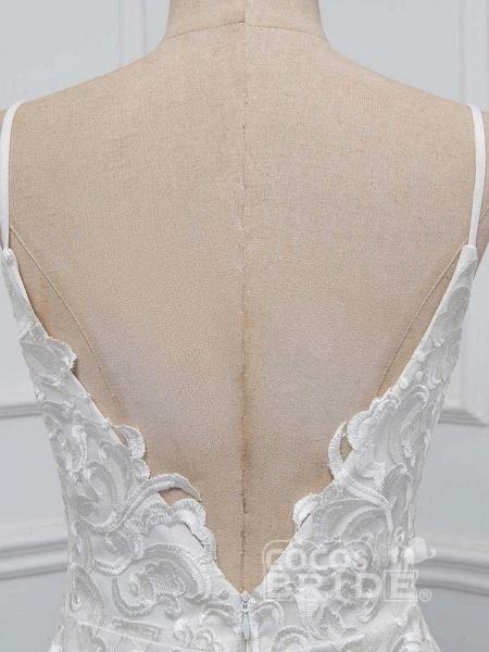 Elegant Spaghetti-Strap Backless Mermaid Wedding Dresses_6