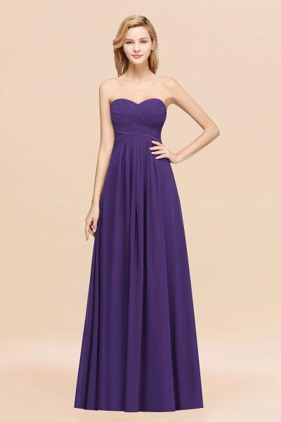 A-line Chiffon Sweetheart Strapless Ruffles Floor-length Bridesmaid Dress_19