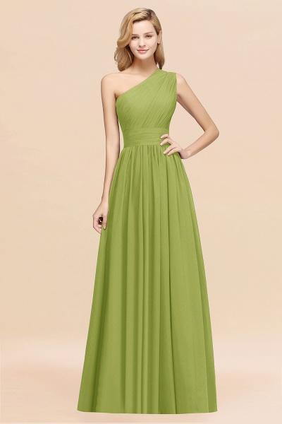 Elegant A-Line Burgundy Chiffon One-Shoulder Sleeveless Ruffles Floor-Length Bridesmaid Dresses_34