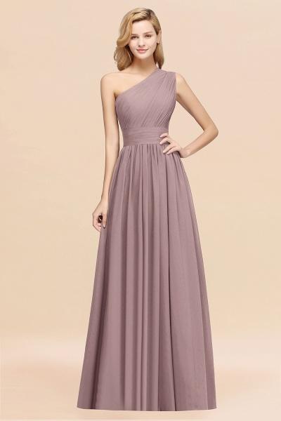 Elegant A-Line Burgundy Chiffon One-Shoulder Sleeveless Ruffles Floor-Length Bridesmaid Dresses_37