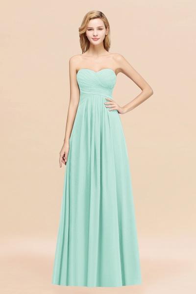 A-line Chiffon Sweetheart Strapless Ruffles Floor-length Bridesmaid Dress_36