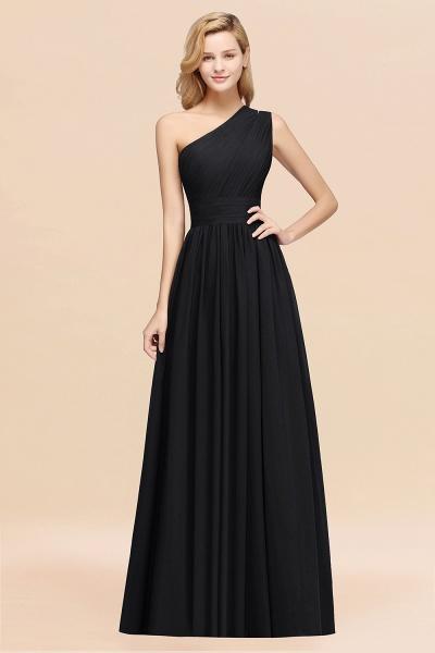 Elegant A-Line Burgundy Chiffon One-Shoulder Sleeveless Ruffles Floor-Length Bridesmaid Dresses_29