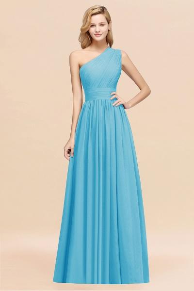 Elegant A-Line Burgundy Chiffon One-Shoulder Sleeveless Ruffles Floor-Length Bridesmaid Dresses_24