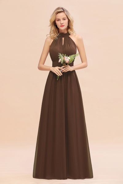BM0758 Glamorous High-Neck Halter Bridesmaid Affordable Dresses with Ruffle_12