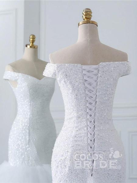 Off-the-Shoulder Mermaid Wedding Dress_6