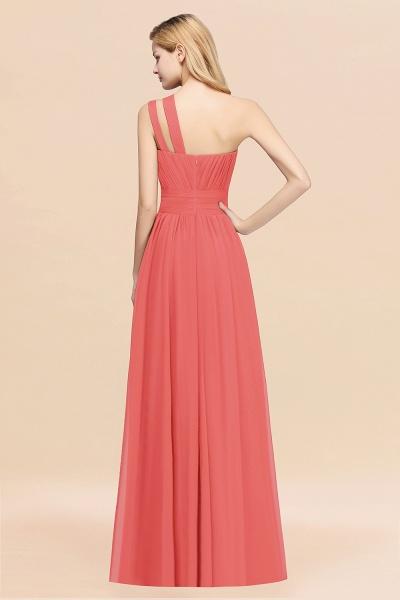Elegant A-Line Burgundy Chiffon One-Shoulder Sleeveless Ruffles Floor-Length Bridesmaid Dresses_56