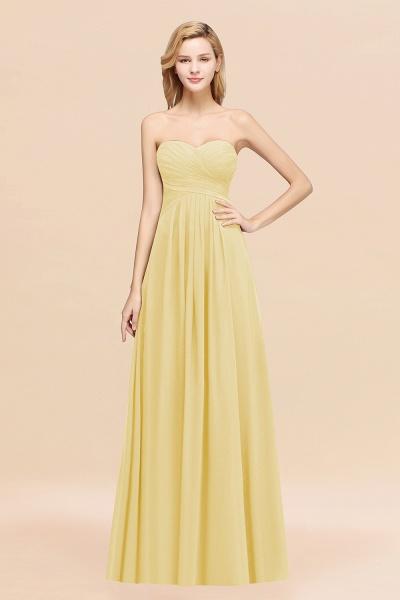 A-line Chiffon Sweetheart Strapless Ruffles Floor-length Bridesmaid Dress_18