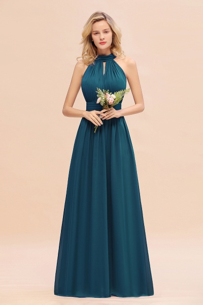 BM0758 Glamorous High-Neck Halter Bridesmaid Affordable Dresses with Ruffle_27