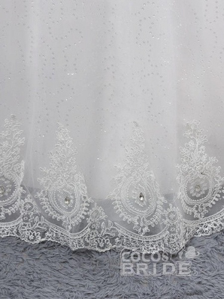 Gorgeous Sweetheart Appliques Ball Gown Wedding Dresses_6