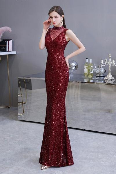 Gorgeous Mermaid Burgundy Sequins Long Prom Dress_4