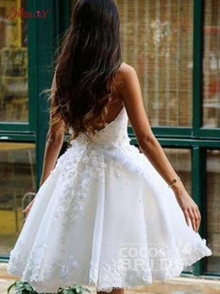 Super Cute Lace A-Line Wedding Dresses_2
