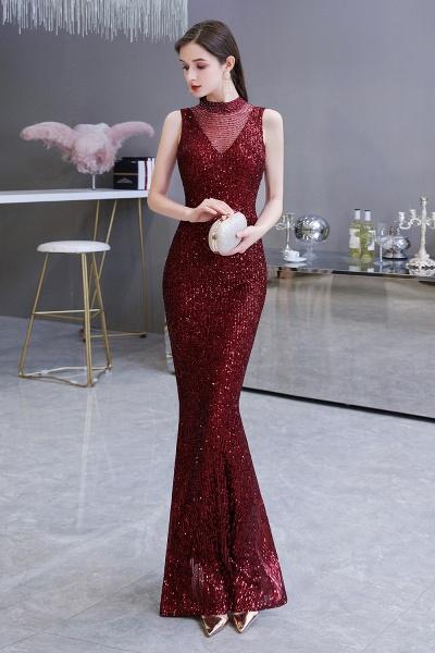 Gorgeous Mermaid Burgundy Sequins Long Prom Dress_6