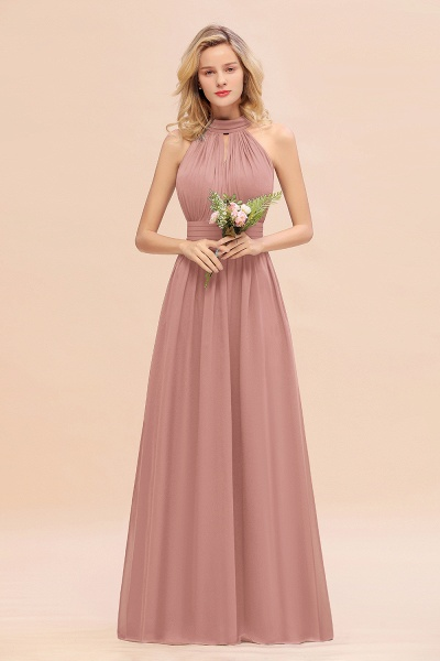 BM0758 Glamorous High-Neck Halter Bridesmaid Affordable Dresses with Ruffle_50
