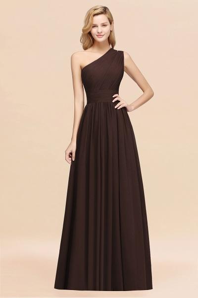 Elegant A-Line Burgundy Chiffon One-Shoulder Sleeveless Ruffles Floor-Length Bridesmaid Dresses_11