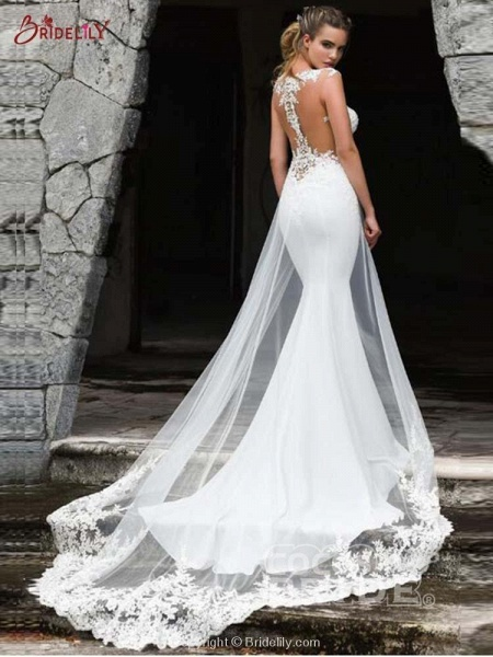 Gorgeous Mermaid Tulle Wedding Dresses_2