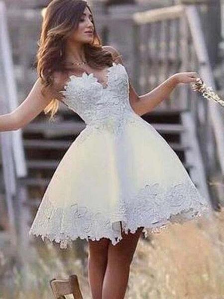 Super Cute Lace A-Line Wedding Dresses_1