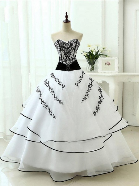 Glamorous Sweetheart Ball Gown Wedding Dresses_1