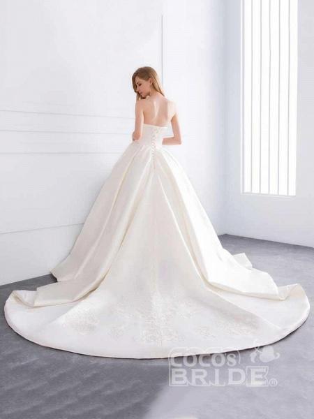 Sweetheart Ball Gown Ruffles Wedding Dresses_4