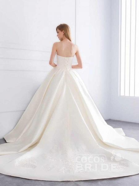 Sweetheart Ball Gown Ruffles Wedding Dresses_3