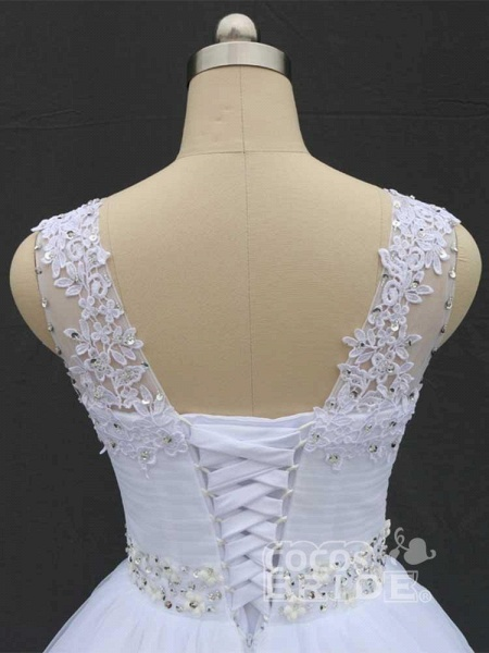 Gorgeous Lace Up Ball Gown Wedding Dresses_6