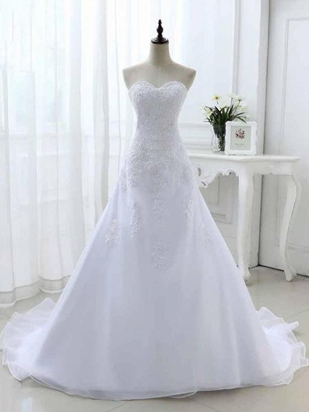Elegant Sweetheart Lace-Up Mermaid A-Line Wedding Dresses_1