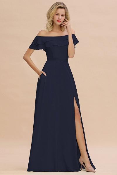 BM0775 Off-the-Shoulder Front Slit Mint Green Long Bridesmaid Dress_28