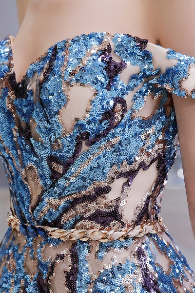 Off-the-Shoulder Sequins Long Multi-Color Prom Dress_11