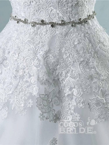 Glamorous Sweetheart Appliques Lace-UP Wedding Dresses_5