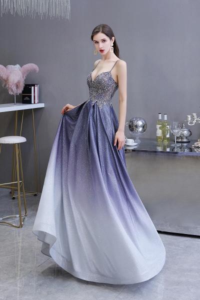 Elegant Spaghetti Straps Appliques Beads Ombre Prom Dress_4