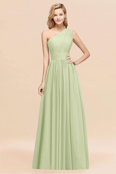 Elegant A-Line Burgundy Chiffon One-Shoulder Sleeveless Ruffles Floor-Length Bridesmaid Dresses_35