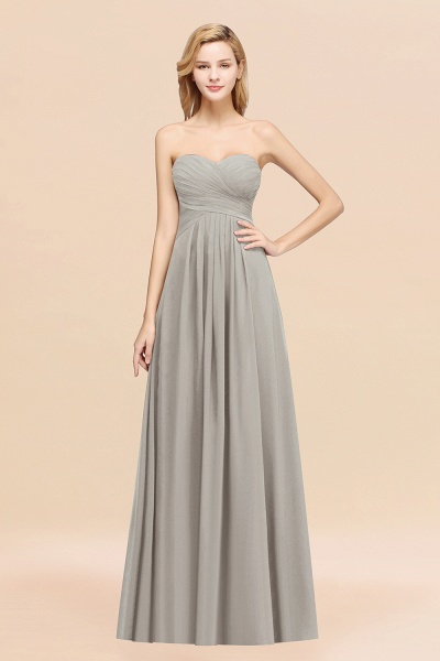 A-line Chiffon Sweetheart Strapless Ruffles Floor-length Bridesmaid Dress_30