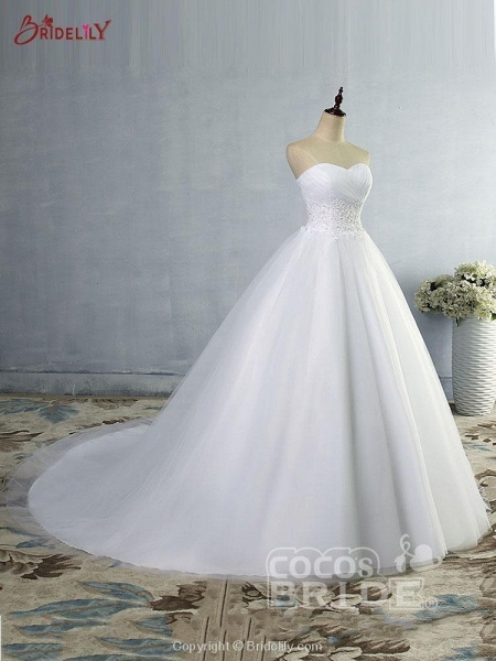 Gorgeous Sweetheart Cathedral Ball Gown Wedding Dresses_3