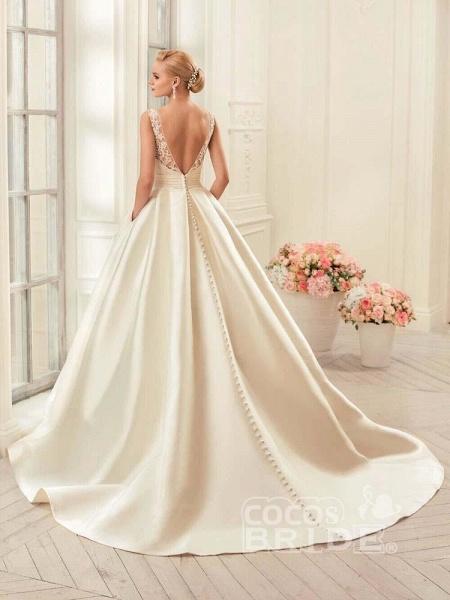 Glamorous Backless Ruffles Wedding Dresses_2