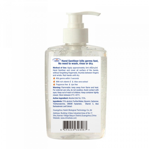 3 Bottles*300ml Siruini Hand Sanitizer - Kills 99.9% of Germs Without Water_2