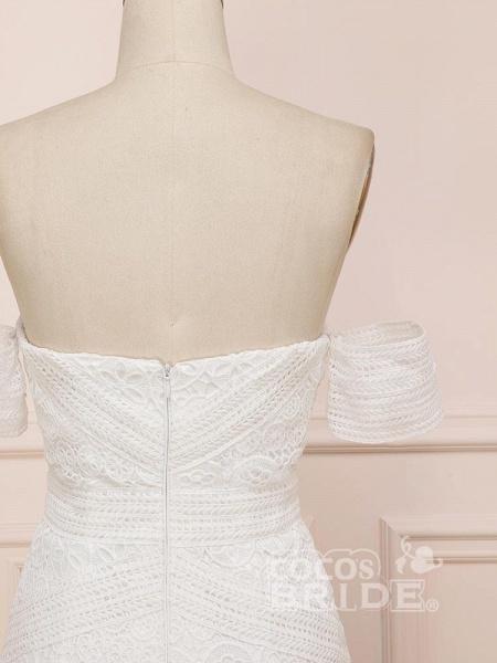 Elegant Sweetheart Lace Mermaid Boho Wedding Dresses_6
