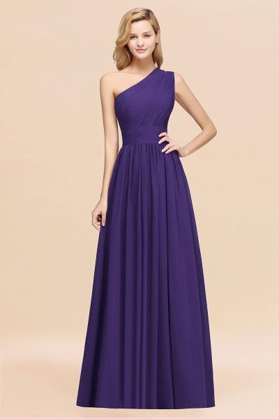 Elegant A-Line Burgundy Chiffon One-Shoulder Sleeveless Ruffles Floor-Length Bridesmaid Dresses_19