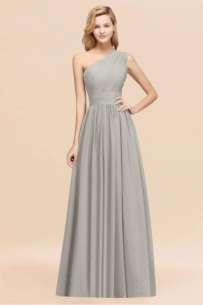Elegant A-Line Burgundy Chiffon One-Shoulder Sleeveless Ruffles Floor-Length Bridesmaid Dresses_30