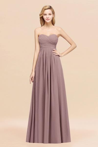 A-line Chiffon Sweetheart Strapless Ruffles Floor-length Bridesmaid Dress_37