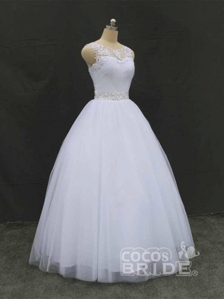 Gorgeous Lace Up Ball Gown Wedding Dresses_2