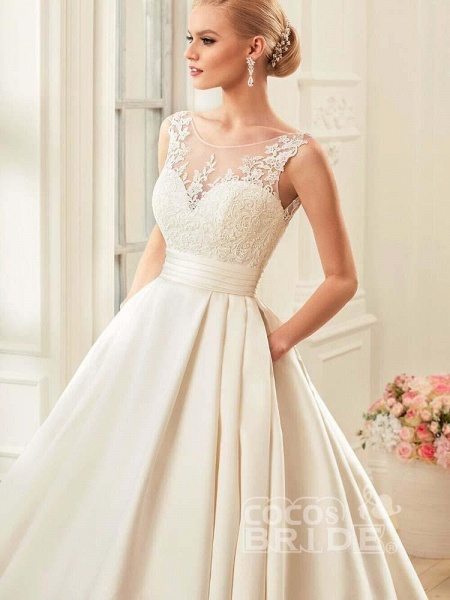 Glamorous Backless Ruffles Wedding Dresses_3